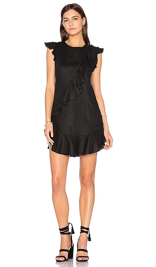 Karina Grimaldi Anthony Ruffle Mini Dress in Black