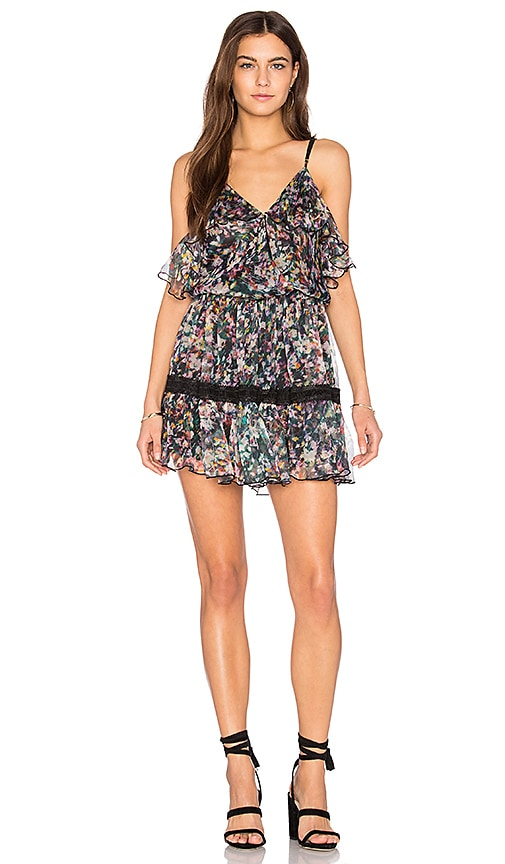 Karina Grimaldi Aiden Print Mini Dress in Black