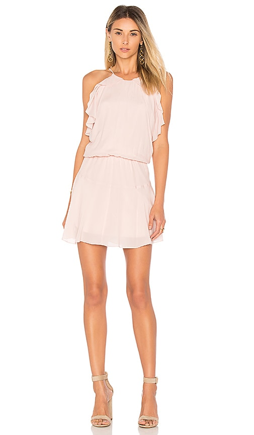 Karina Grimaldi Lulu Solid Mini Dress in Pink
