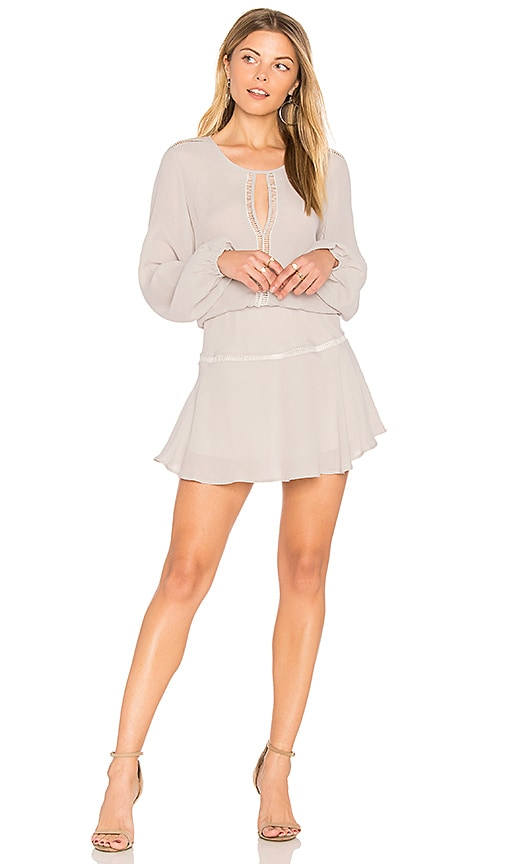 Karina Grimaldi Titti Solid Mini Dress in Gray
