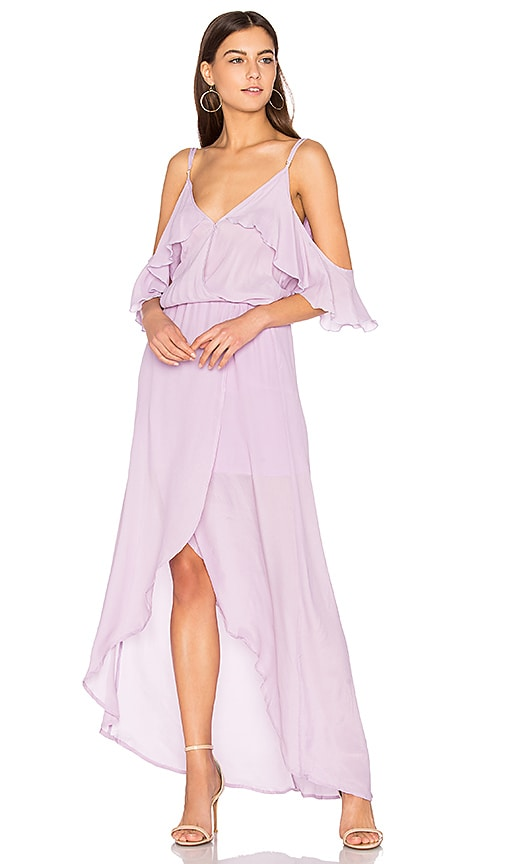 Karina Grimaldi Rockefeller Solid Maxi Dress in Lavender