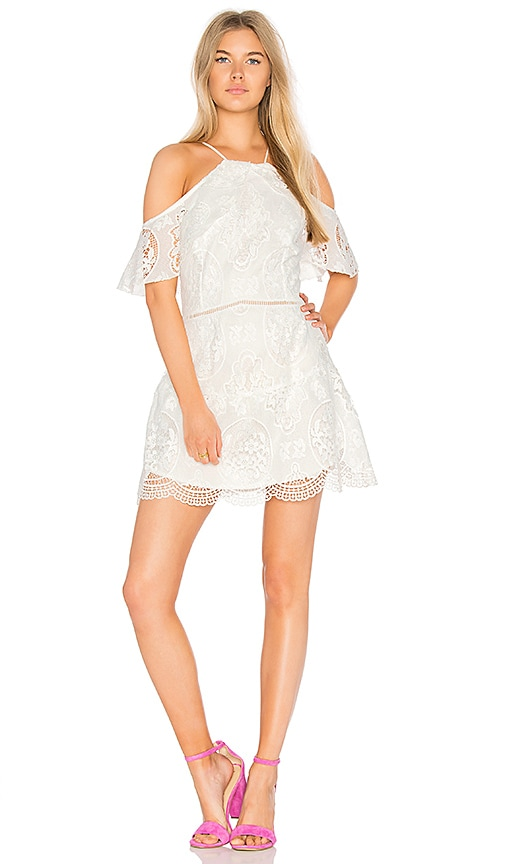 Karina Grimaldi Ellie Lace Mini Dress in White