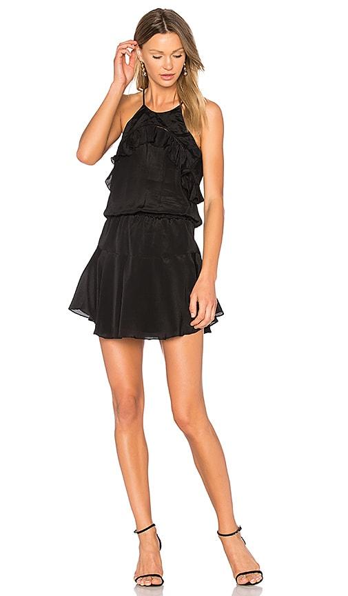 Karina Grimaldi Celine Solid Mini Dress in Black
