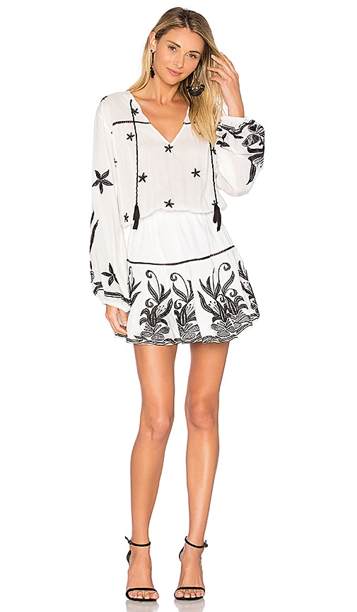 Karina Grimaldi Amanda Embellished Mini Dress in White