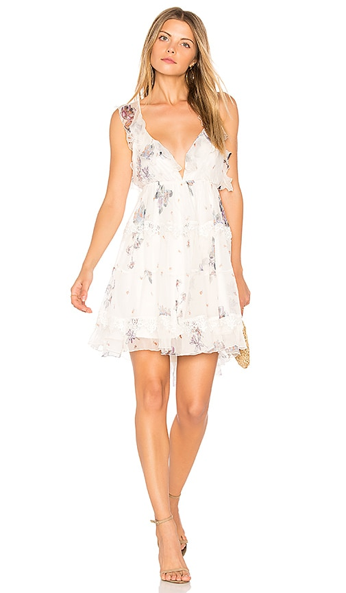 Karina Grimaldi Dulce Silk Mini Dress in White