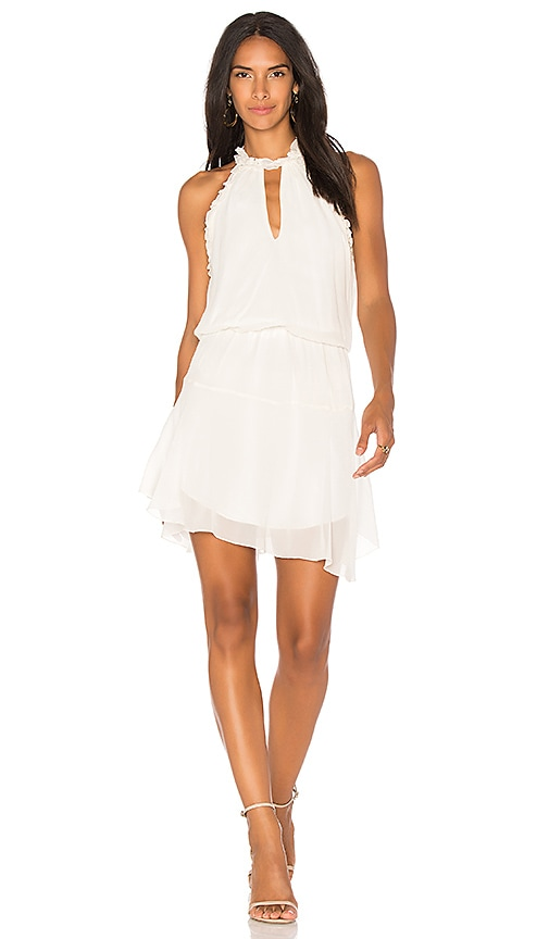 Karina Grimaldi Bauti Ruffle Mini Dress in White