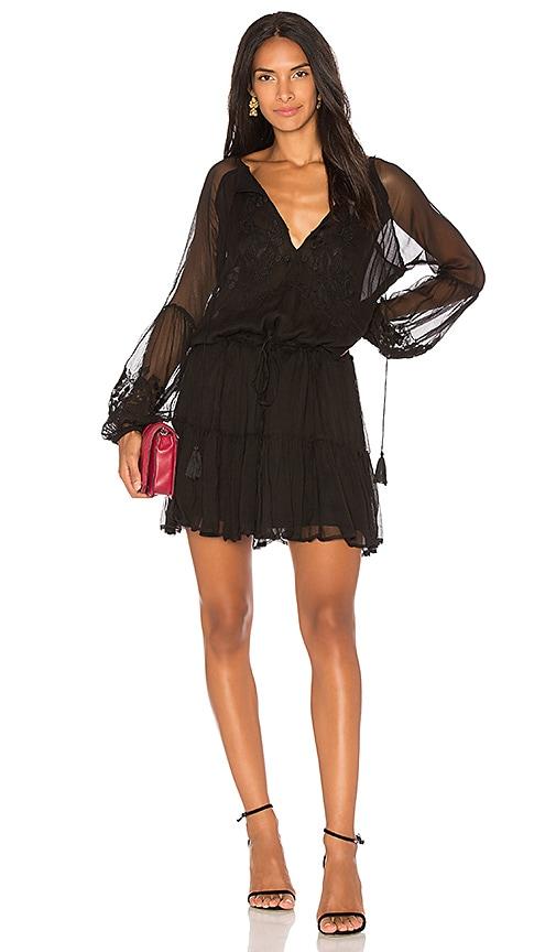 Karina Grimaldi Jemma Embellished Mini Dress in Black