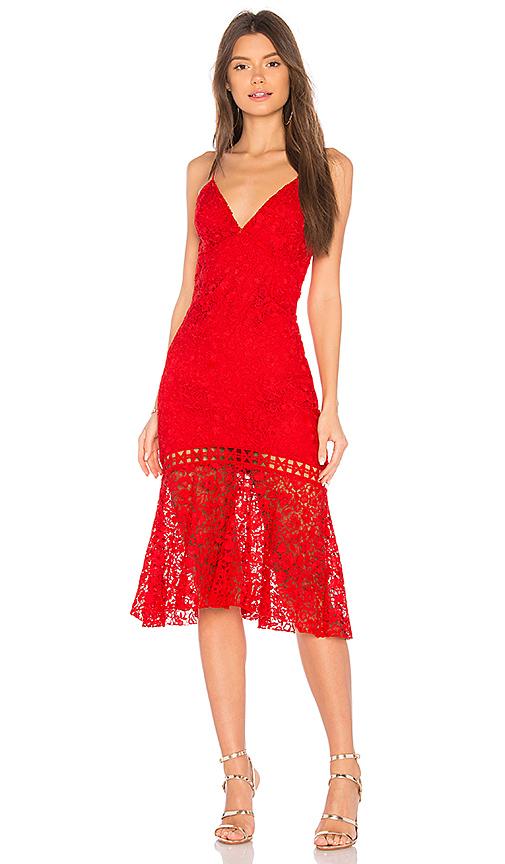 82a5f9749e Karina Grimaldi Diana Lace Dress in Fantasy Red | REVOLVE