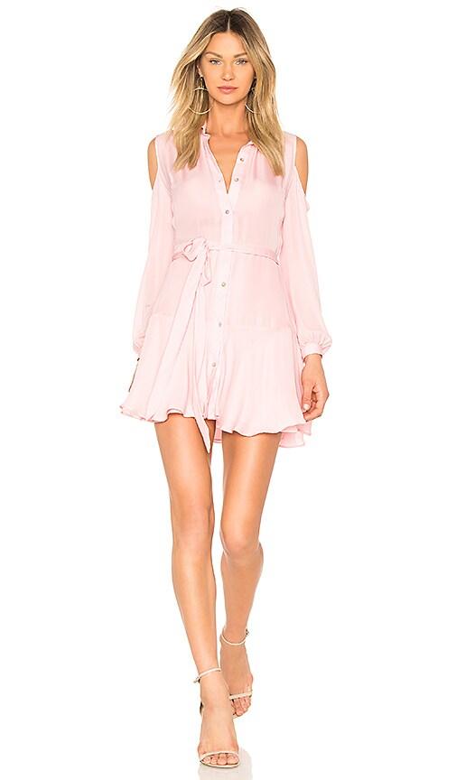 Karina Grimaldi Cut Mini Dress in Pink