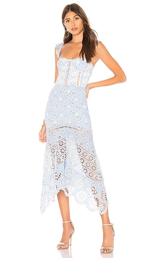 7f02299e2f Karina Grimaldi Irma Eyelet Dress in Blue Paisley | REVOLVE