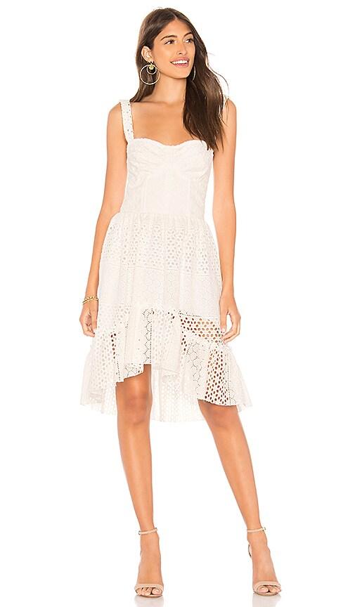 Karina Grimaldi Rosi Eyelet Mini Dress in White