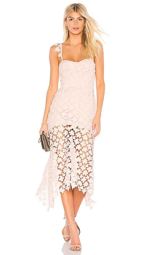 Karina Grimaldi Irma Lace Dress in Pink