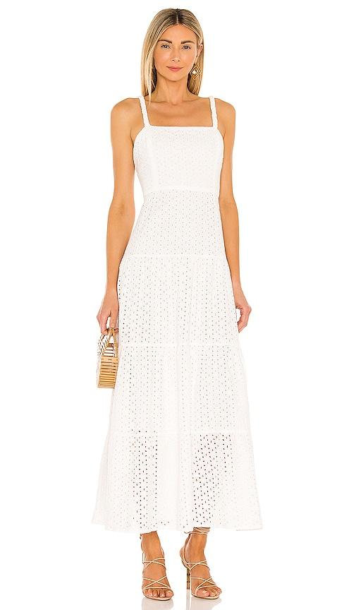 Karina Grimaldi Noni Eyelet Maxi Dress in White   REVOLVE