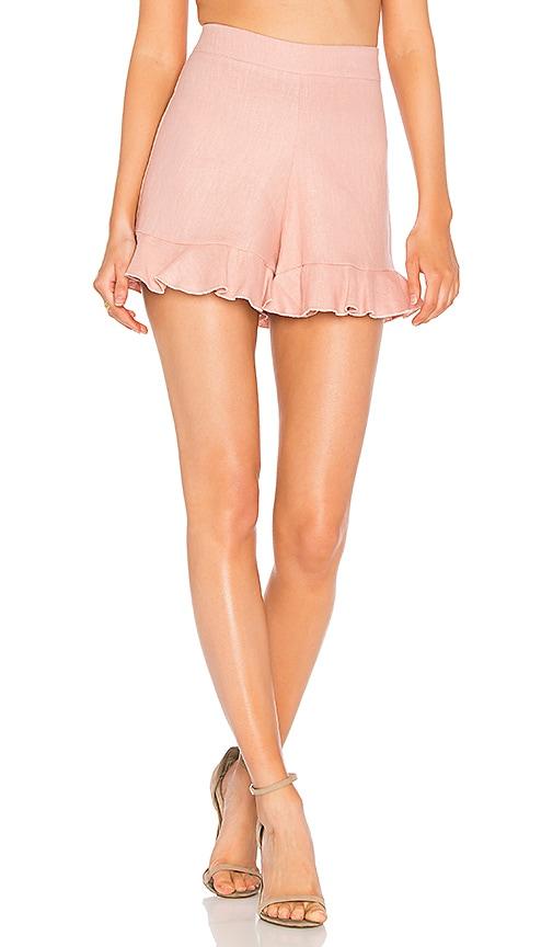 Karina Grimaldi Jonas Linen Shorts in Pink