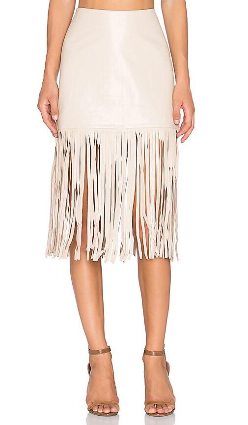 Karina Grimaldi Dylan Leather Skirt in Natural