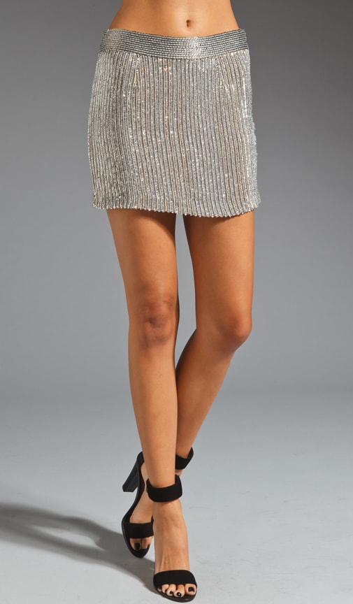 Amy Beaded Mini Skirt