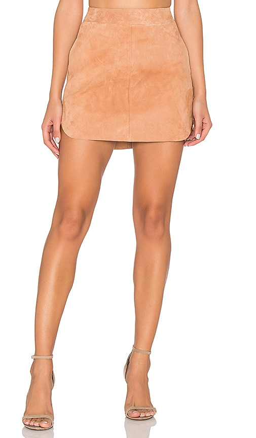 Karina Grimaldi Jacob Suede Skirt in Tan