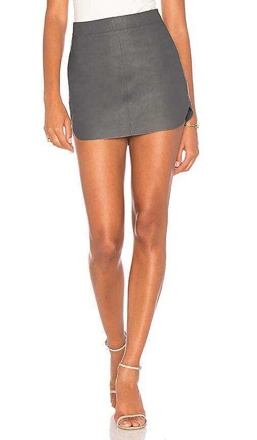 Karina Grimaldi Jacob Leather Skirt in Gray