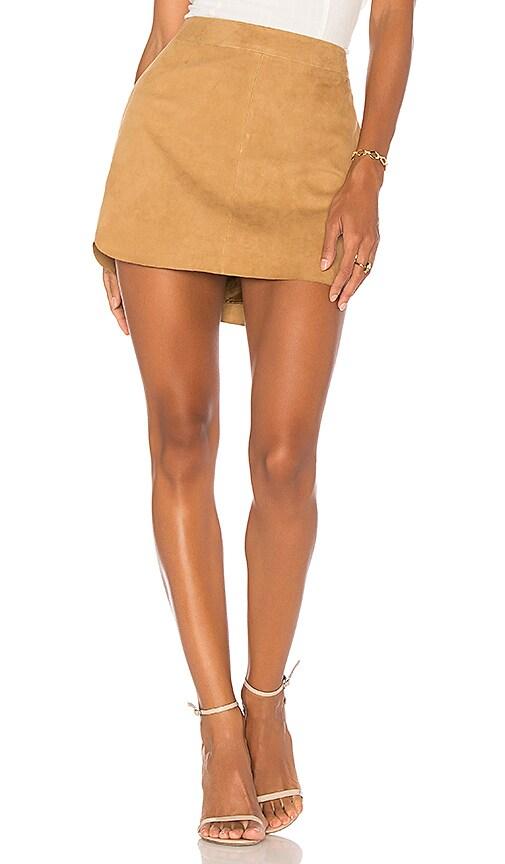 Karina Grimaldi X REVOLVE Jacob Suede Skirt in Brown