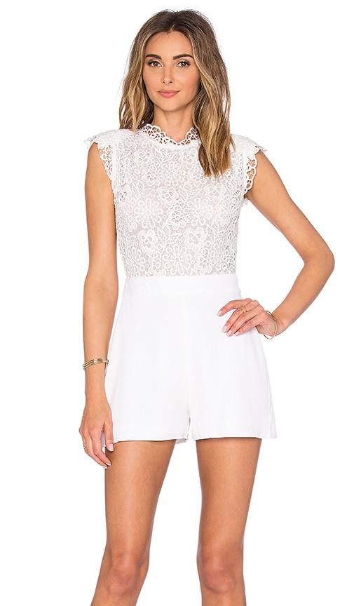 Karina Grimaldi Lari Romper in White