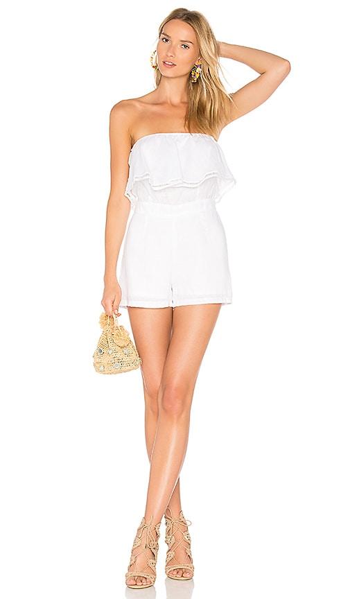 526129952eef Karina Grimaldi Maura Linen Romper in White