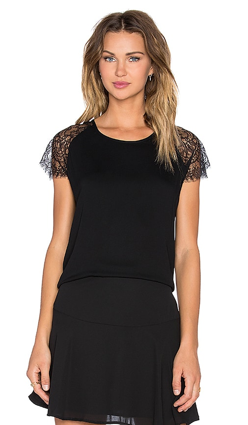 Karina Grimaldi Julia Top in Black