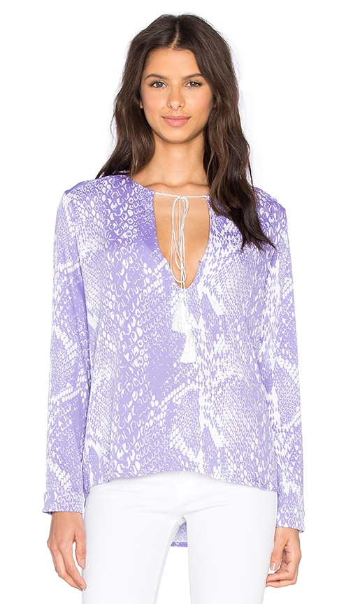 Karina Grimaldi Pilar Print Top in Purple