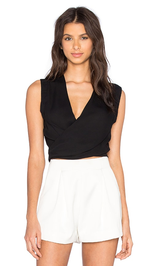 Karina Grimaldi Moon Solid Top in Black