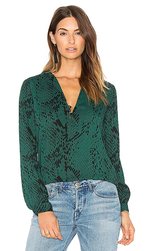 Karina Grimaldi Sky Print Top in Green