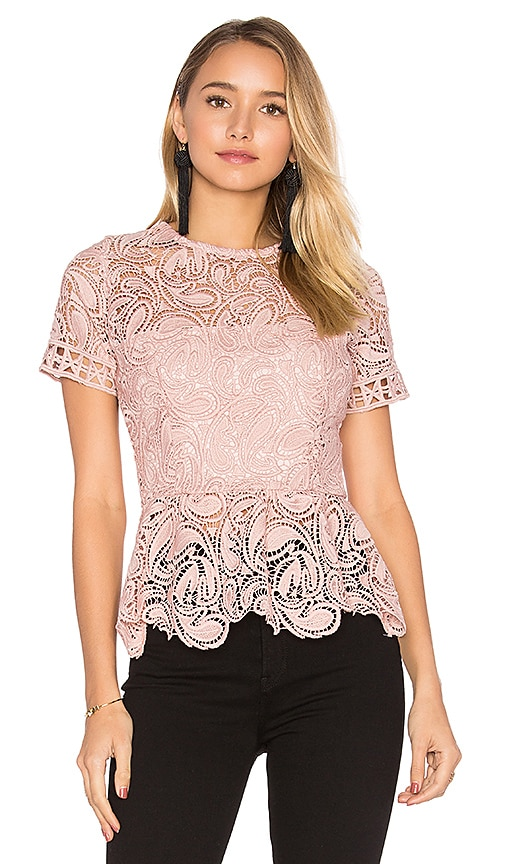 Karina Grimaldi Rosa Lace Top in Blush