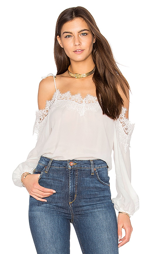 Karina Grimaldi Fleur Solid Top in White