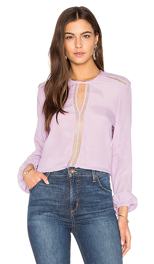 Karina Grimaldi Francesca Solid Top in Lavender