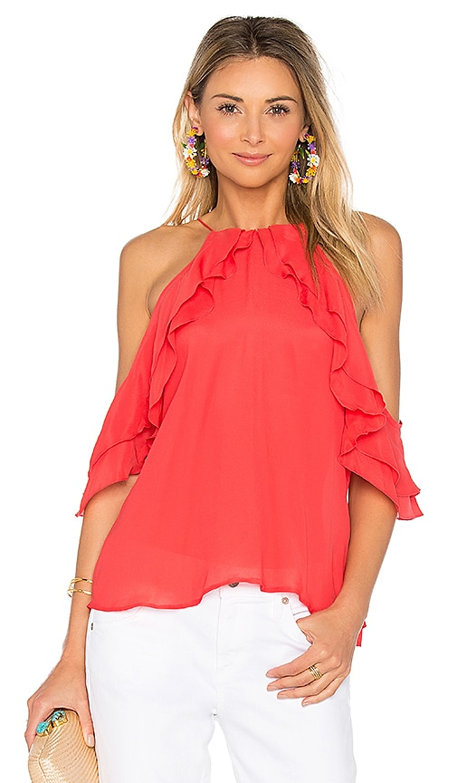 Karina Grimaldi Trudi Solid Top in Coral
