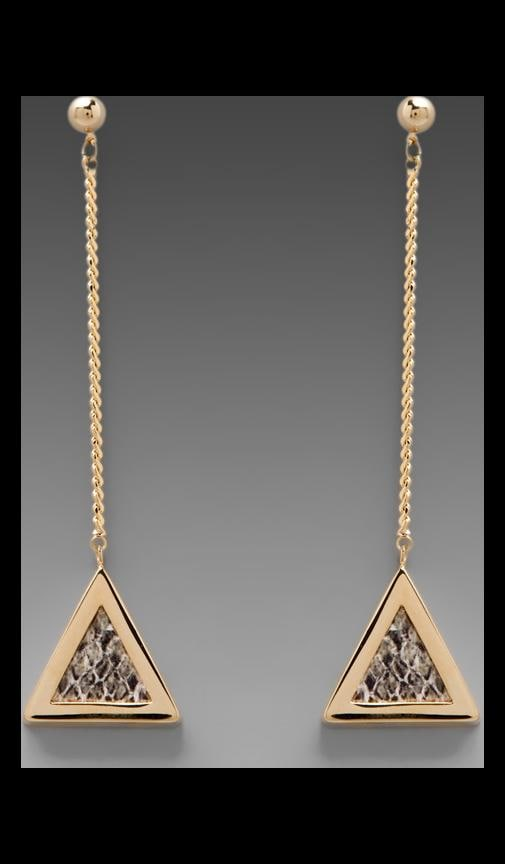 Python Triangle Drop Chain Earrings