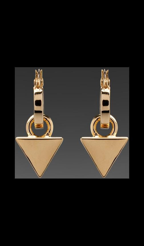 Luxe Hoop Triangle Earrings