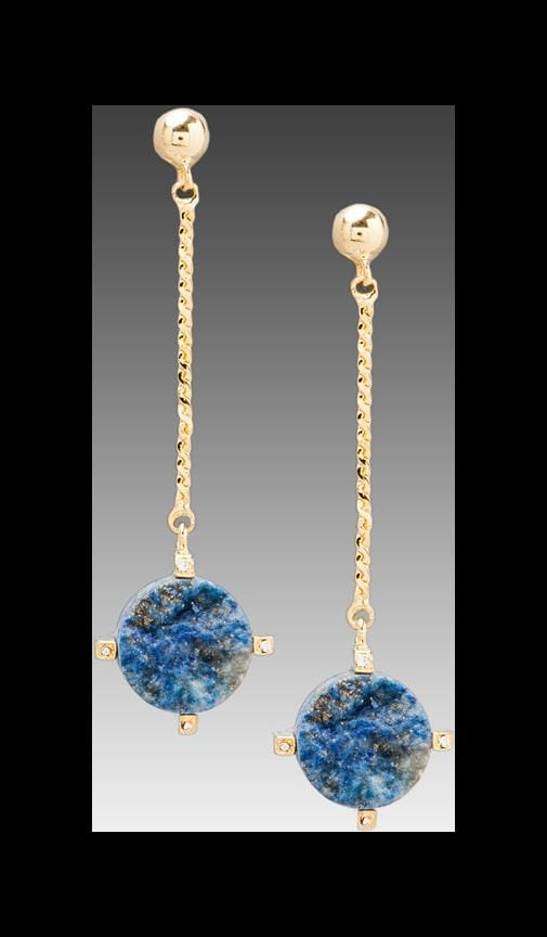 Ball Drop Blue Lapis Earrings