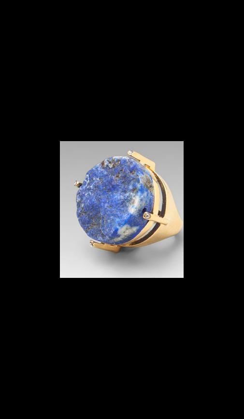 Round Blue Lapis Ring