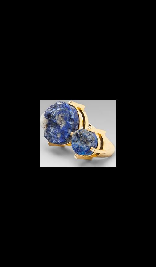 Double Stone Blue Lapis Ring