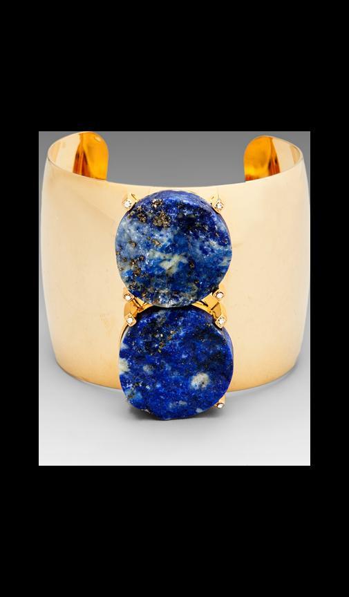 Blue Lapis 2 Stone Cuff