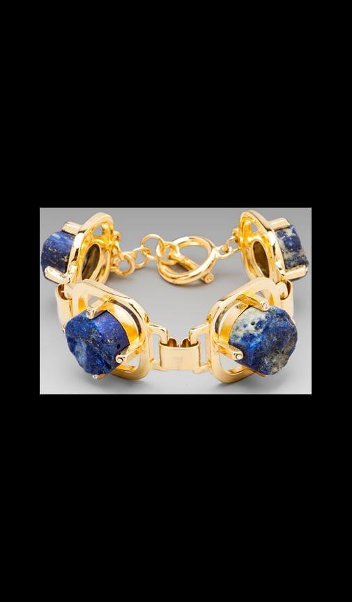 Round Blue Lapis Bracelet