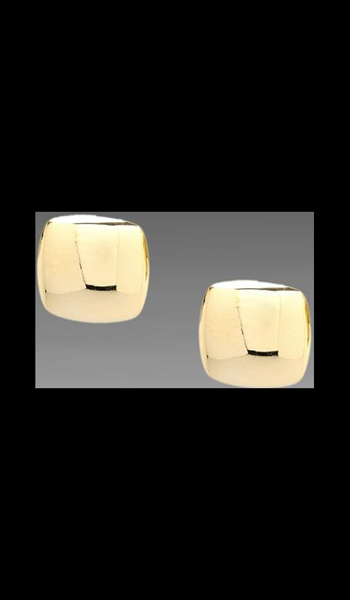Puffed Square Earring