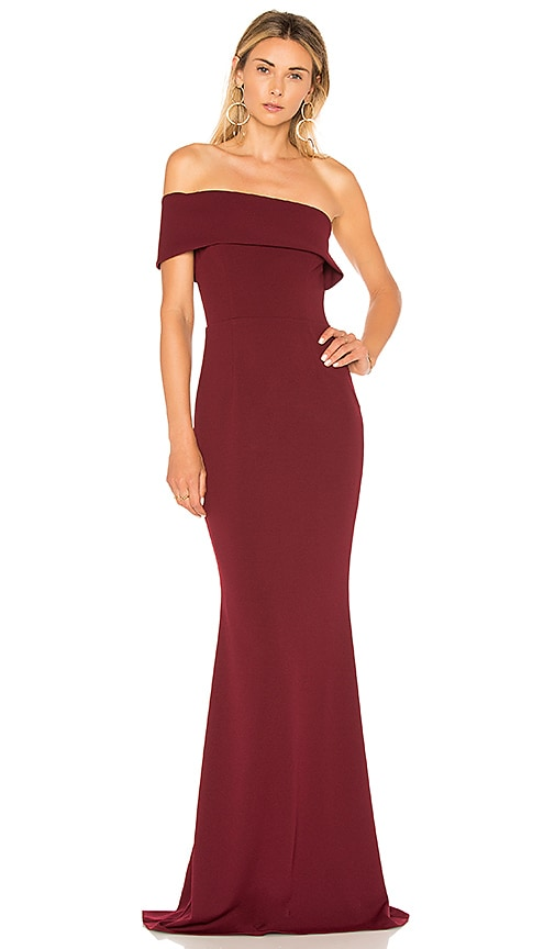 Katie May Titan Gown in Wine