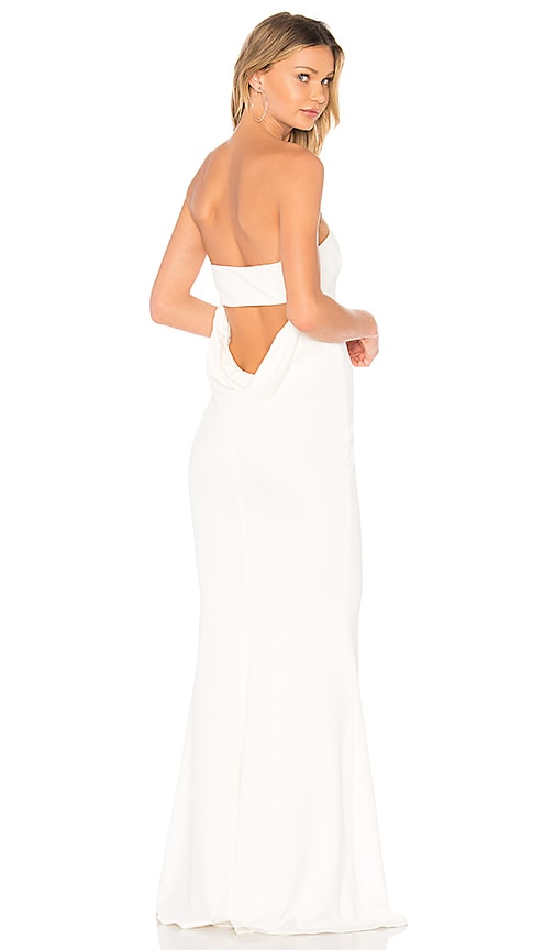 Katie May Mary Kate Gown in Ivory | REVOLVE