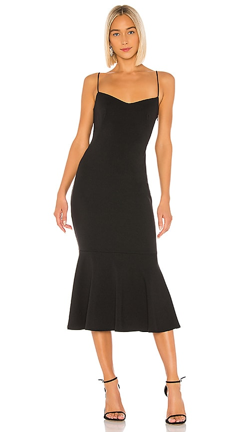 Katie May Twirl Backless Dress in Black