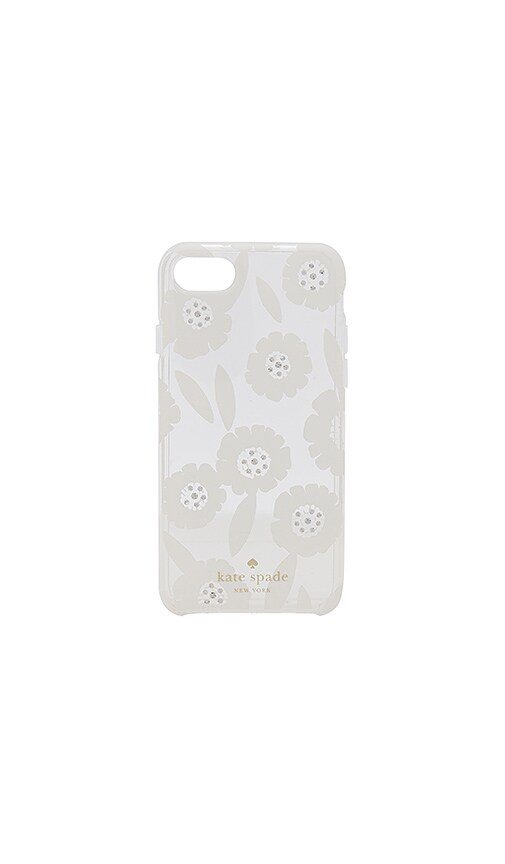kate spade new york Jeweled Majorelle iPhone 7 Case in White