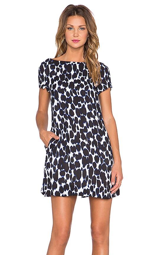 kate spade new york Leopard Swing Dress in Deep Indigo