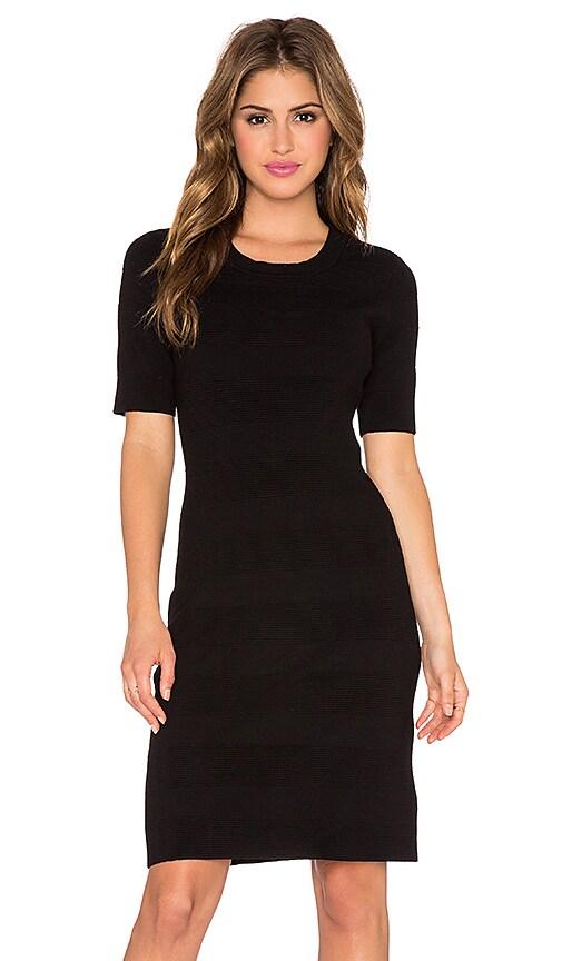 kate spade new york Textured Stripe Sheath Dress in Black