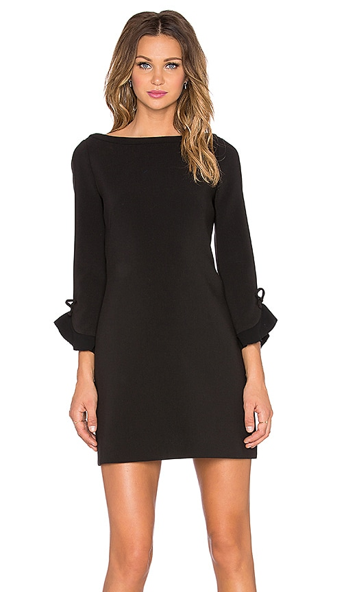 kate spade new york Ruffle Sleeve Dress in Black