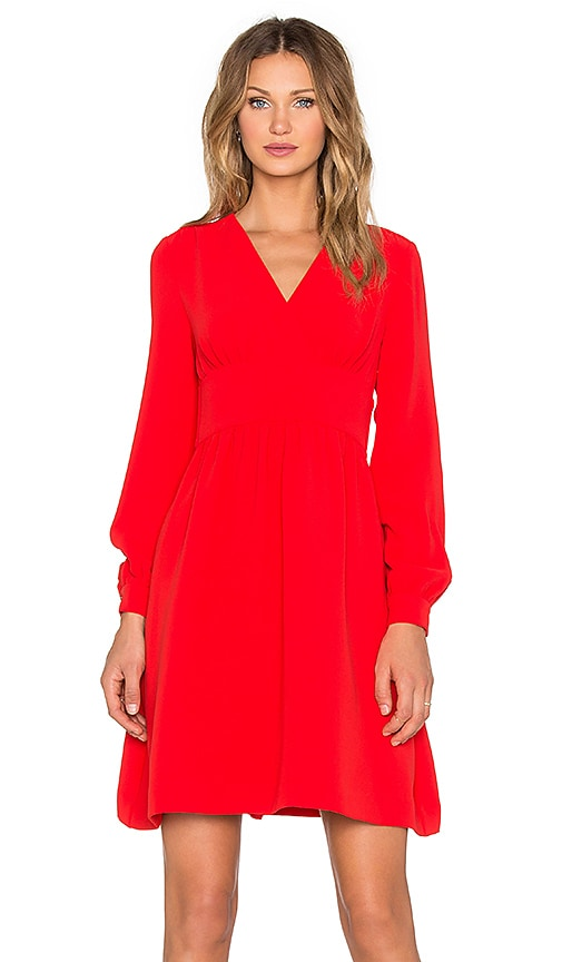 kate spade new york Tie Waist Dress in Lollipop Red