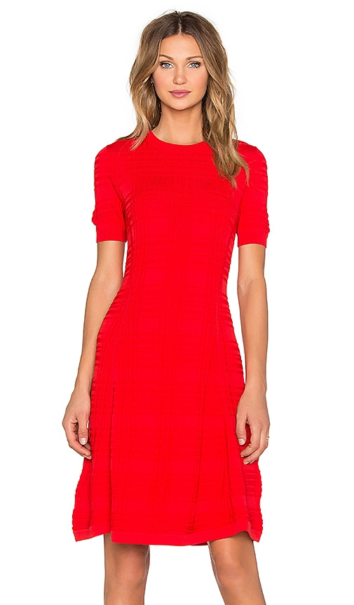 Textured Scuba Shift Dress